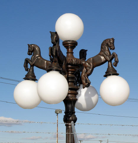 Large Horse Lamp Pole