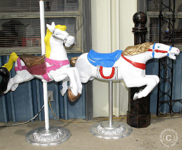 Pony Express Carousel Horse