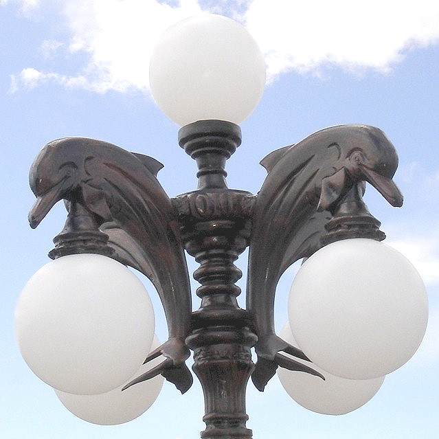 Dolphin Lamp Pole