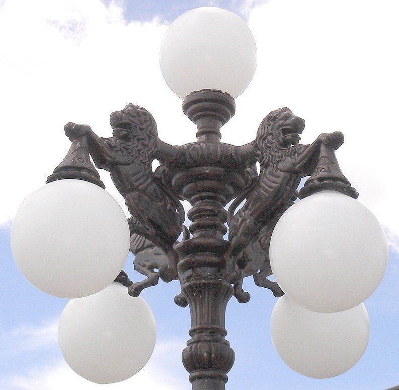 Lion Lamp Pole