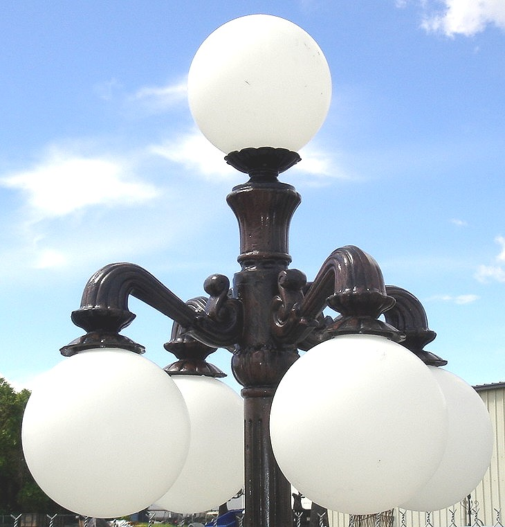 Victorian 4 Arm Lamp Down Pole