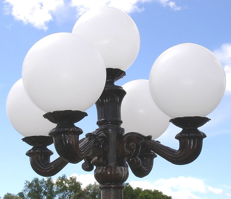 Victorian 4 Arm Lamp Top Pole